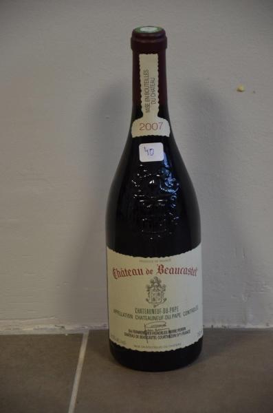 6 btl de Château Beaucastel rouge de 2007 Châteauneuf du Pape