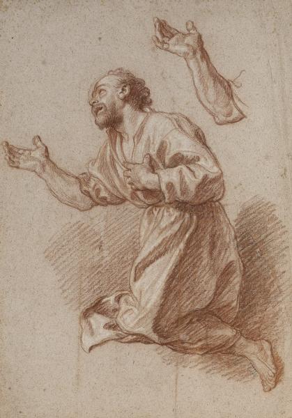 * Charles de LA FOSSE (Paris 1636-1716) :  - SAINT PIERRE AGENOUILLÉ.  - Trois[...]